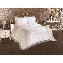 Duvet Cover French Lace Lalezar Bed Cover Cream