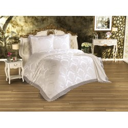 Duvet Cover French Lace Serra Bed Cover Cream