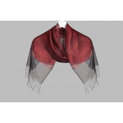 Double layer silver shawl two colors