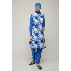 Mayo Burkini Asuman Fully Covered Swimsuit-Blue