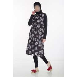 Mayo Burkini Hijab Swimsuit-Black