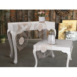 Luxury tablecloth Mellissa Kordone 3 Piece Bedroom Set Cream Cappucino