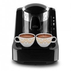 OK002 OKKA Turkish Coffee Machine - Chrome - Black