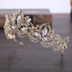 Wedding Accessories Beautiful Rhinestone / Alloy Crowns With Rhinestone