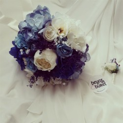 Wedding Bouquet Blue Maria Bridal Flower (Bouquet)